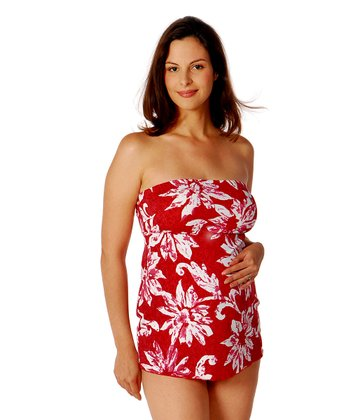 Tiki Maternity Strapless Two-Piece Swimsuit
