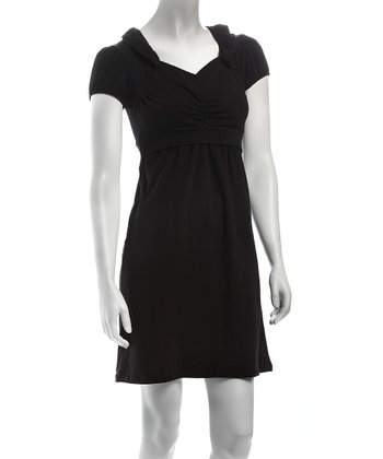 Black Sabine Nursing Dress