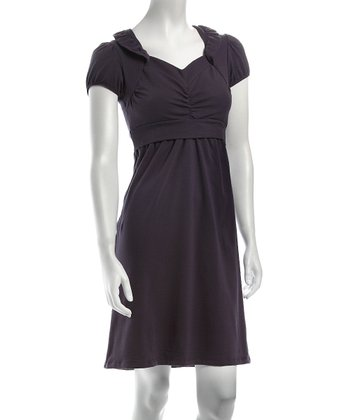 Ta-Ta For Now Gray Sabine Nursing Dress
