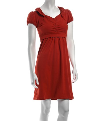 Orange Sabine Nursing Dress