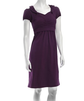 Ta-Ta For Now Purple Sabine Nursing Dress