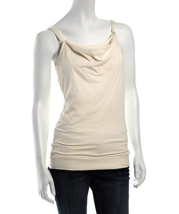 Ta-Ta For Now Ivory Vera Nursing Tank