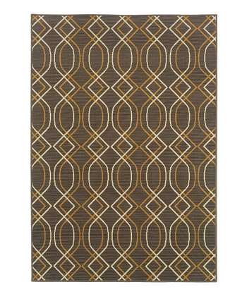 Gray Interlocking Fiji Indoor/Outdoor Rug