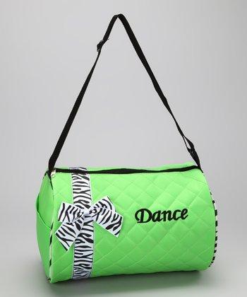 Seesaws & Slides Lime Bow 'Dance' Duffel Bag