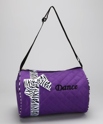 Seesaws & Slides Purple Bow 'Dance' Duffel Bag