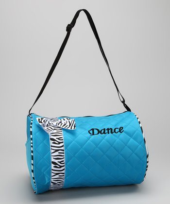 Blue Bow 'Dance' Duffel Bag