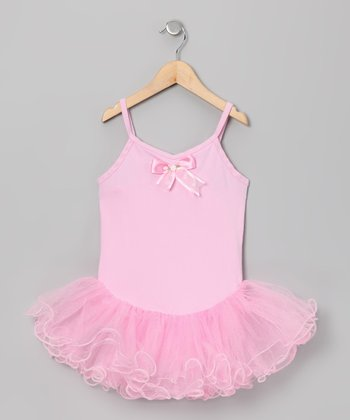 Pink Wave Skirted Leotard - Toddler & Girls