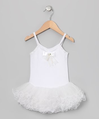 White Wave Skirted Leotard - Infant, Toddler & Girls