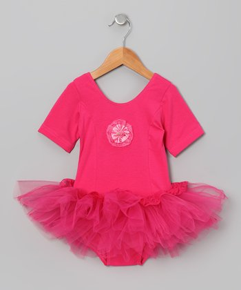 Hot Pink Lace Skirted Leotard - Infant, Toddler & Girls