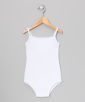 White Camisole Leotard - Infant, Toddler & Girls