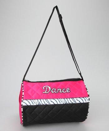 Seesaws & Slides Black & Pink Zebra 'Dance' Duffel Bag