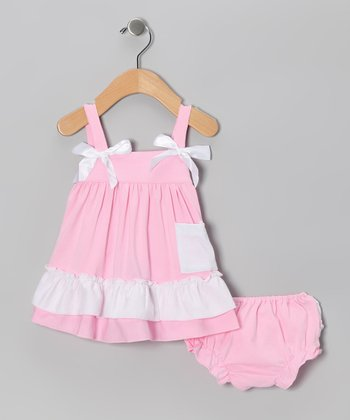 Light Pink Swing Top & Diaper Cover - Infant, Toddler & Girls