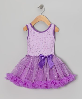 Purple Sequin Pettiskirt Dress - Infant & Toddler