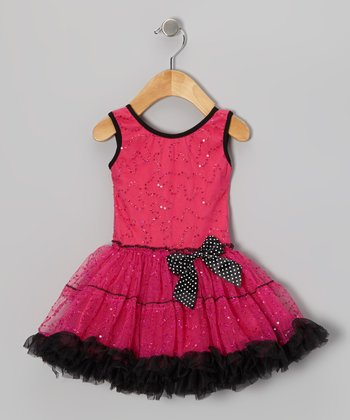 Fuchsia Sequin Pettiskirt Dress - Infant, Toddler & Girls