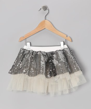Silver Sequin Tutu - Infant, Toddler & Girls