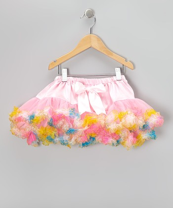 Pink Rainbow Pom-Pom Tutu - Infant, Toddler & Girls