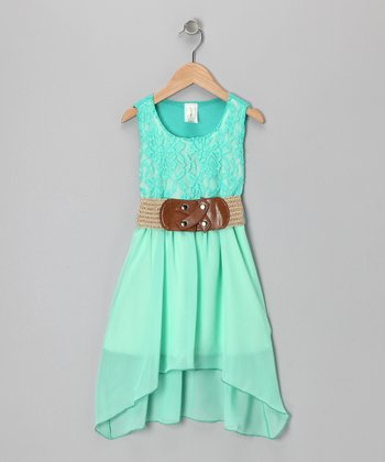 Mint Chiffon Lace Dress