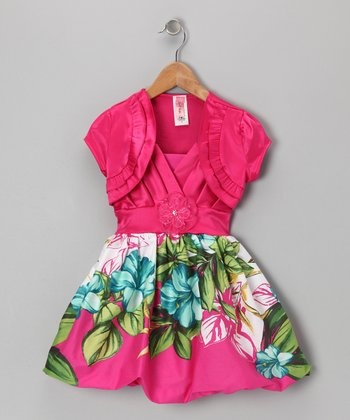 Pink Shrug Flower Dress