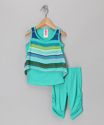 Mint Stripe Tunic & Leggings