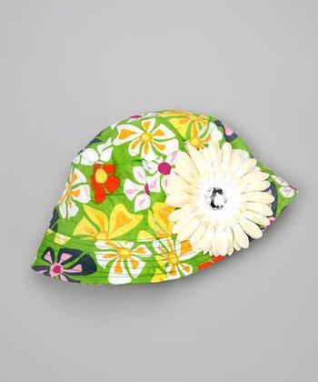 Green Flower Bucket Hat