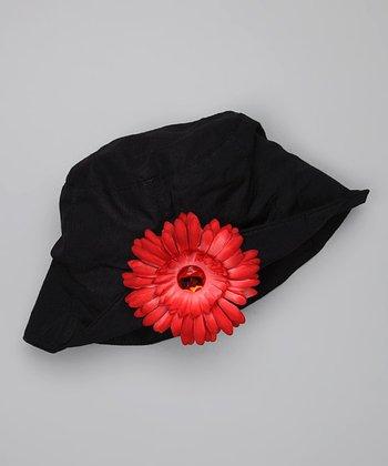 Black & Red Bucket Hat