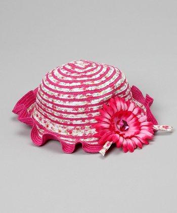 Hot Pink Vintage Rose Sunhat