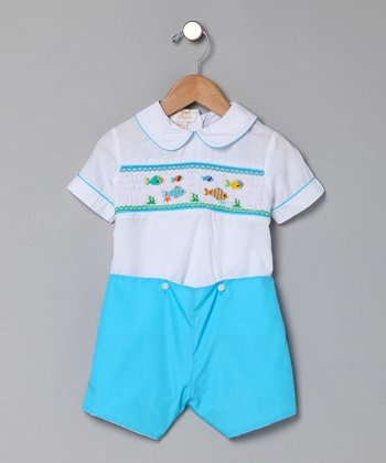 Turquoise Marine Life Top & Shorts - Infant