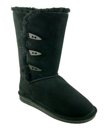 Black Suede Sarah Boot - Women
