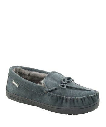 Charcoal Suede Moc II Slipper - Women