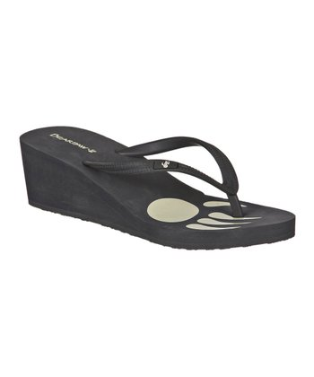 Charcoal Lilly Wedge Flip-Flop - Women