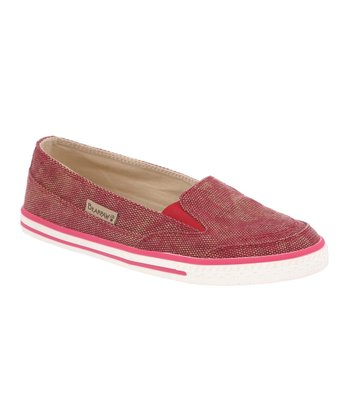 Red Holly Slip-On Sneaker - Women