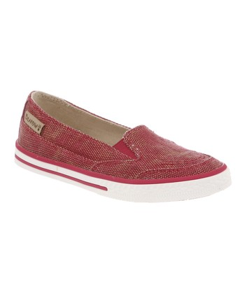 Red Holly Slip-On Sneaker - Kids