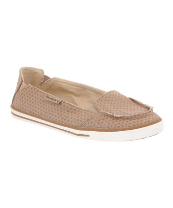 Tan Polka Dot Erica Slip-On Sneaker - Women