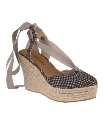 Black & Blue Ginger Espadrille - Women