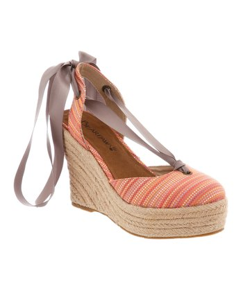 Coral & Yellow Ginger Espadrille - Women