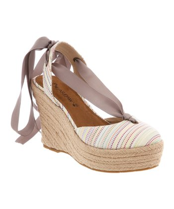 White & Yellow Ginger Espadrille - Women