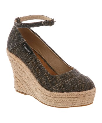 Black & Beige Isla Platform Wedge - Women