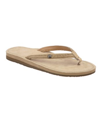 Natural & Jute Canna Flip-Flop - Women