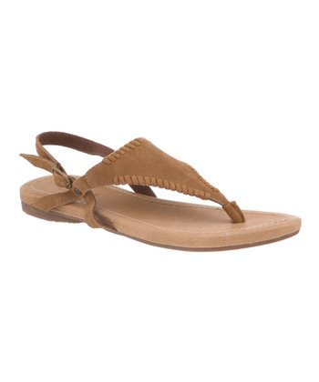 Jute Tan Suede Anne Sandal - Women