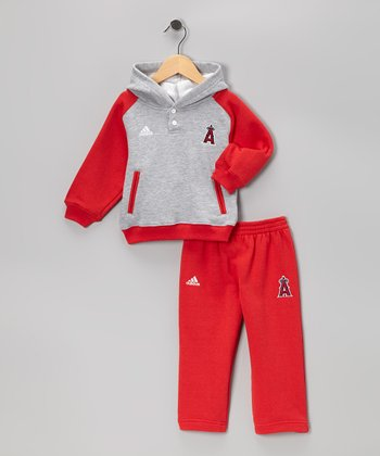 Red & Gray Los Angeles Angels Pullover & Pants - Infant