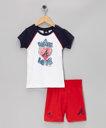 Navy Atlanta Braves Tee & Shorts - Toddler & Kids