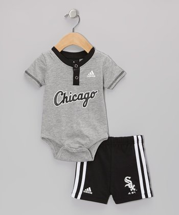 Gray White Sox Bodysuit & Shorts - Infant
