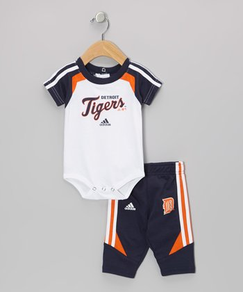 Navy Tigers Bodysuit & Pants - Infant