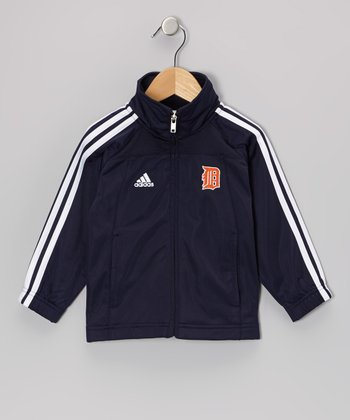 Navy Detroit Stripe Track Jacket - Toddler