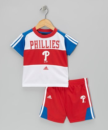 Red & Blue Phillies Tee & Mesh Shorts - Toddler