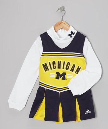 Michigan Cheerleader Turtleneck & Dress - Girls
