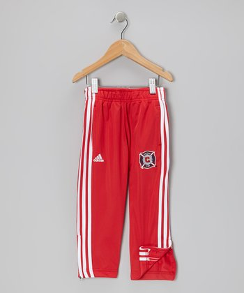 Red Chicago Fire Track Pants - Toddler