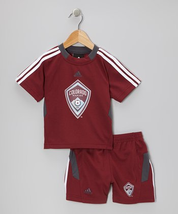 Burgundy Colorado Rapids Top & Shorts - Toddler