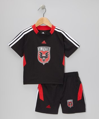 Black & Red D.C. United Top & Shorts - Toddler