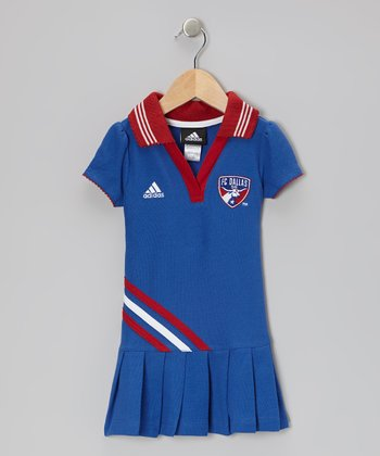 Blue & Red FC Dallas Polo Dress - Toddler & Girls